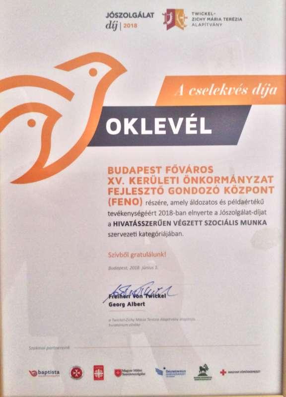 Jószolgálat-díjat kaptak a segítők